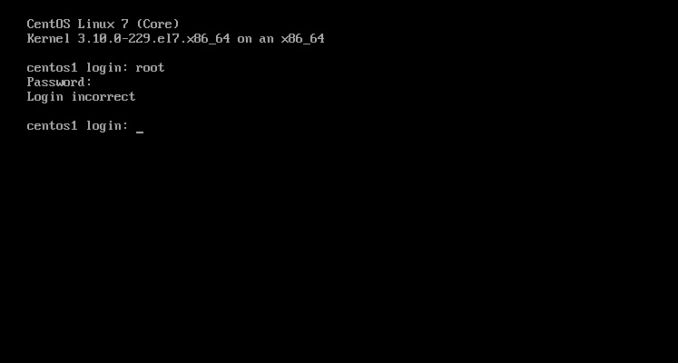 reset root passwd in CentOS 7 linux img 1
