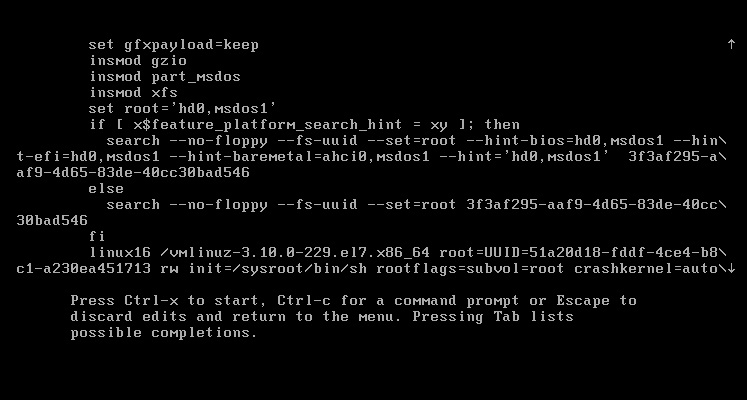 reset root passwd in CentOS 7 linux img 4