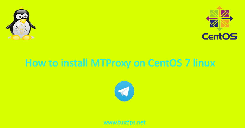 install MTProxy on CentOS 7 linux